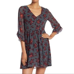 NWT Madewell Moonblossom Ruffle-Sleeve Dress
